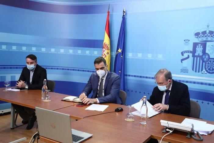 Sánchez se reúne con el Comité Estatal de Coordinación y Dirección del sistema nacional de Protección Civil