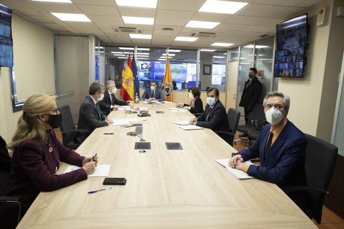 El presidente acude a la sede de Protección Civil para presidir el comité de coordinación ante la ola de frío