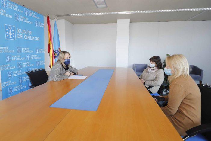 Comerciantes da zona do Xeral trasladan a Fernández-Tapias a súa preocupación polo estado da contorna da futura cidade da xustiza