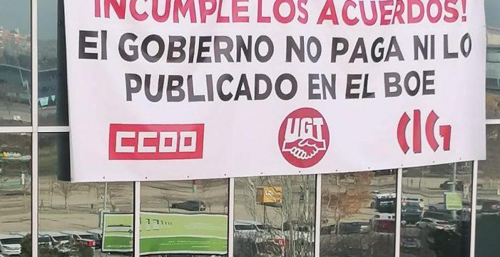Inician un peche nas dependencias de Portos do Estado en Madrid contra o incumprimento do convenio
