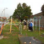 O Concello de Nigrán instala ao carón do pavillón municipal o primeiro parque de calistenia de toda a comarca