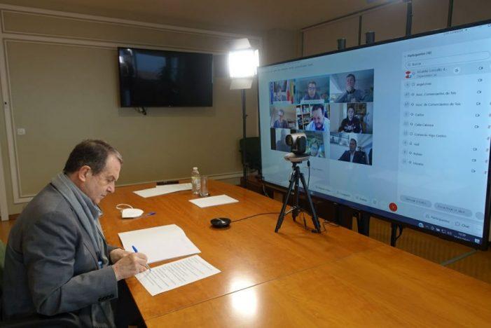 Caballero recibe á nova asociación Vigocomercio e avanza a creación dunha plataforma de compras