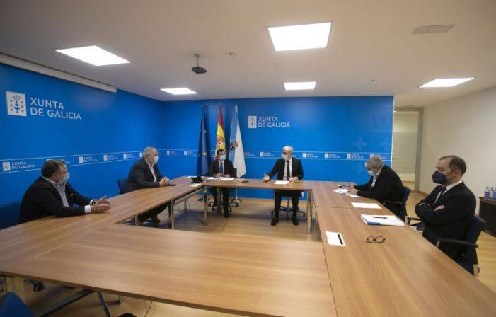 A Xunta aborda coa asociación eólica de Galicia e o clúster da madeira as oportunidades que achega a Lei de reactivación para estes sectores estratéxicos
