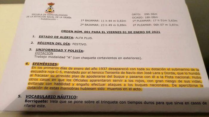 BNG reclama a Defensa que investigue celebración da Armada en Ferrol do afundimento en 1937 dun submarino da 'escuadra roja'
