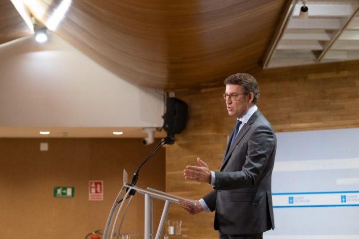 Feijóo avanza que o segundo Plan de rescate a autónomos, microempresas e hostalería contará como mínimo con 50 M€