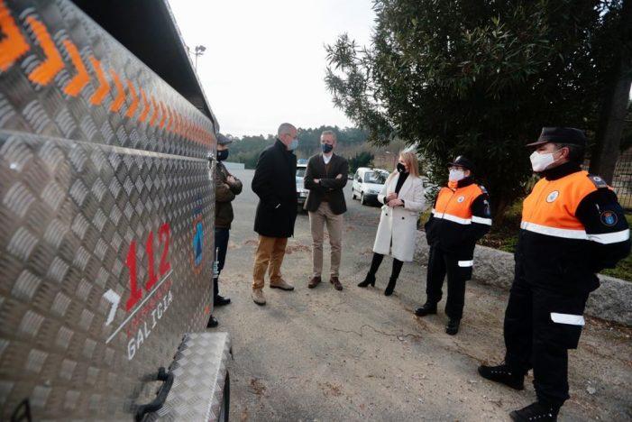 Protección Civil de Salceda de Caselas conta cun novo remolque para emerxencias