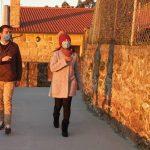 Ramallo e Novas visitan as obras xa finalizadas de mellora no lugar da Gorita