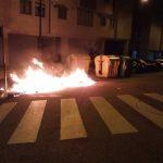 La calle Fonte Santa fue victima de un incendio intencionado