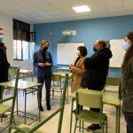 Fernández-Tapias constata que avanzan a bo ritmo as obras do IES Santa Irene de Vigo, no que a Xunta inviste 1,2 millóns de euros