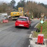 A Deputación de Pontevedra acomete obras de emerxencia na EP-2601 Mos-Puxeiros para reparar un tramo danado por infiltracións de auga