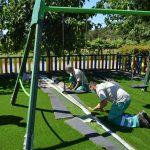 Mos continúa co seu plan de mellora de parques renovando os elementos de 4 áreas de lecer infantil