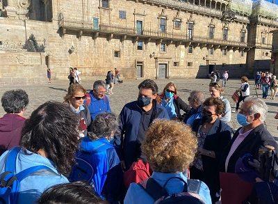 Miranda recibió a los 40 gallegos de Tres Cantos (Madrid) que finalizaron hoy el Camino de Santiago
