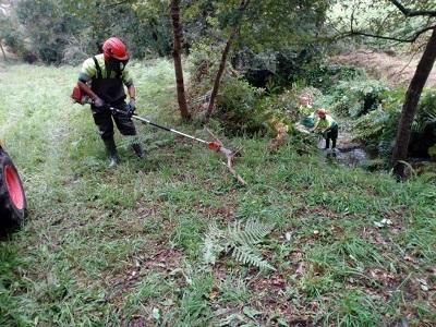 La Xunta realiza actuaciones de conservación y limpieza en los trechos interurbanos de los arroyos del Campelo y de As Maceiras, en el ayuntamiento de Redondela
