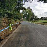 La Xunta ejecuta obras de mejora de la seguridad en la carretera AC-934, en el trecho coincidente con el Camino Norte, al paso por el ayuntamiento de Sobrado