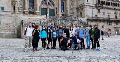 Lorenzana recorre parte del Camino de Santiago en apoyo del emprendimiento en la economía social