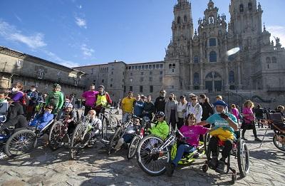 La Xunta destaca el ejemplo de superación de un centenar de peregrinos con discapacidad de la Fundación También