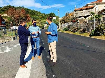 La Xunta renueva el firme de la carretera PO-303 entre Poio y Meaño en el marco de las obras en seis vías autonómicas de la provincia en las que invierte casi 800.000€